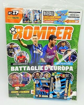 Bomber 17 Rivista Panini LIMITED CARD Calciatori Adrenalyn XL 2018 19