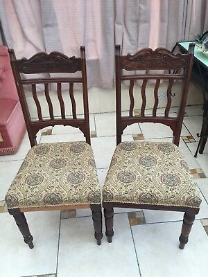 Vintage Antique Dining Chair Queen Anne Style   26/3/F
