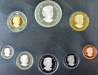 2004 Canadian Silver Proof Set First French Settlement Five Silver Coins