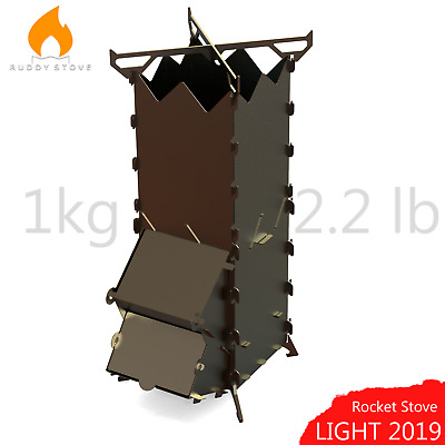 Rocket Stove Ruddy Stove Folding Wood Burner for cooking Picnic Camping Outdoor
