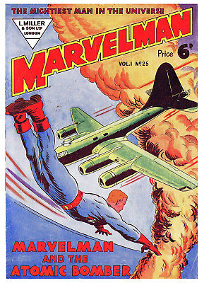 MARVELMAN No.25 (No.1)  -  BRITISH 6d .  -   Facsimile Comic