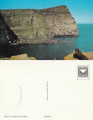 1960's NOUP OF NOSS SHETLAND ISLANDS SCOTLAND UNUSED COLOUR POSTCARD