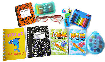 """13 Pc School Supplies Set for 18"""" American Girl Dolls Accessories Brown Glasses"""