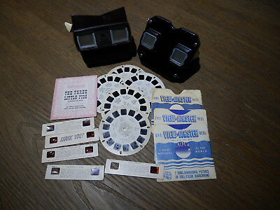 2 Vintage Sawyer's View Masters Lot with reels