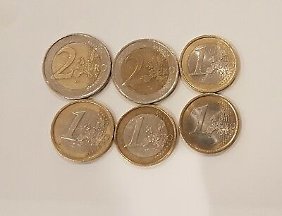 France, Germany and Italy Euro Coins 8 euros holiday money or collecting