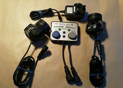 Jebao Twin Dual Controller With 2 Rw4 Wave Maker Propeller Pumps