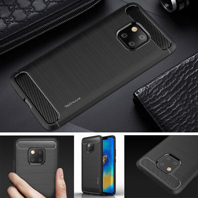 Premium Slim Soft Carbon Fibre Protective Case Cover for Huawei Mate 20 Pro
