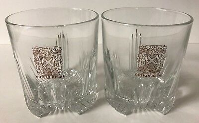 CHIVAS REGAL SCOTCH WHISKY - Old Fashioned / Rocks Glasses - NEW / NOS - 1980'S