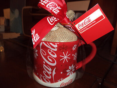 "Coca Cola ""LIMITED EDITION""  Holiday Snowflake Ceramic Mug/Cup"
