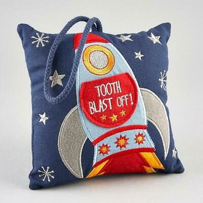 Floss & Rock Childrens Rocket Tooth Fairy Cushion Hanging Money Pillow Boys Gift