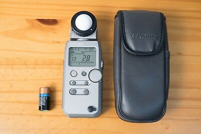 Sekonic L-358 Flash Master Light Meter w/Case & Battery (GREAT condition)
