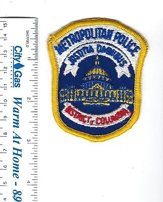 Metropolitan Washington DC District of Columbia Police small hat patch NEW!