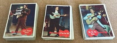 1956 Elvis Presley Bubbles Inc. Trading Card Lot Of 61 Cards