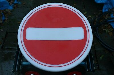 NO ENTRY Sign  Plastic 630mm for 76mm pole, by SIMMONS SIGNS