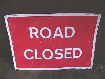 Road Closed Metal Sign