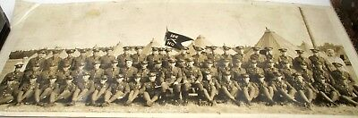*original* 1935 Military Panoramic Photo From Pre-Wwii. Headquarters Co.
