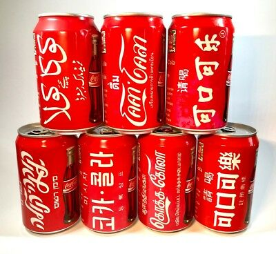 1990's Italy Coca Cola Can Country Set 330ml