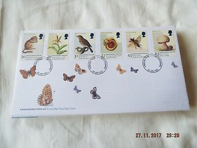 Royal Mail Fdc Endangered Species (No Address)