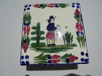 Vintage Blue Ridge Pottery Peasant Pattern Covered Box