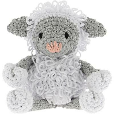 Lamb Lewy White & Gray Eco Barbante DIY Kit Crochet Kit HOOOKED PAK130 New
