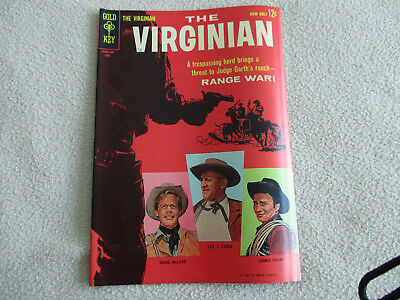 The Virginian #1 Comic Book - 1963 Gold Key Silver Age Western Fn