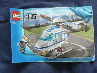 Lego City 7741 Police Helicopter Instruction Book Only No Lego