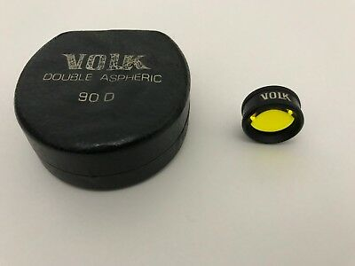 Volk 90D lens, Yellow Tinted, Double Aspheric, VOLK II BIO, 90D, Made In USA.