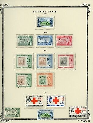 ST KITTS & NEVIS Album Page Lot #SPEC9 - SEE SCAN - $$$