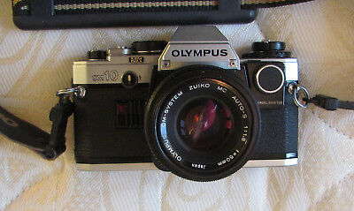 OLYMPUS OM10 camera with manual adaptor and case