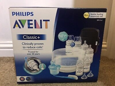 Philips Avent Classic+ Bottle Feeding Essential Set Microwave Steriliser
