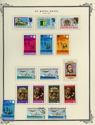 ST KITTS & NEVIS Album Page Lot #SPEC14 - SEE SCAN - $$$