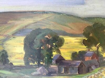 "oil painting on board - landscape - signed / dated ""Poynter"" 1925"