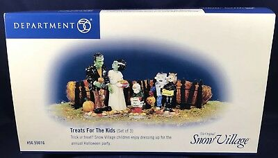 Dept 56 Retired TREATS FOR THE KIDS Halloween 3 piece set with box