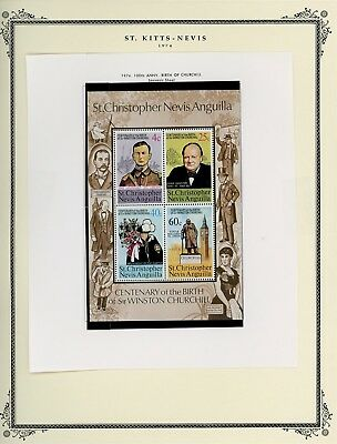 ST KITTS & NEVIS Album Page Lot #SPEC25 - SEE SCAN - $$$