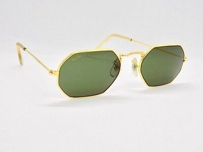 1990's B&L Ray Ban Classic Collection 6 W1535 Hexagonal Sunglasses + Case