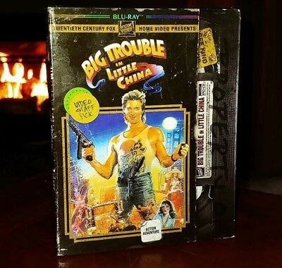 Big Trouble In Little China (Blu-Ray) Vhs Rental Slipcover-Brand New & Sealed