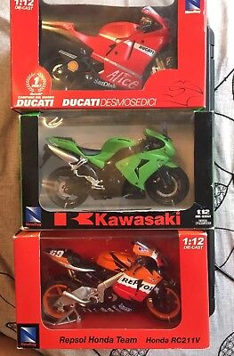 New Ray Lot - Honda , Kawasaki , Ducati