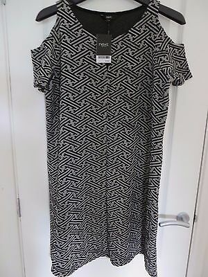 Next Jacquard Cold Shoulder Tunic Dress Size 16 Brand New With Tags