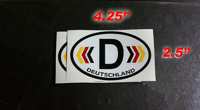 1pcs D Germany Country Code Oval Sticker Self Adhesive German Car Body Decor SP
