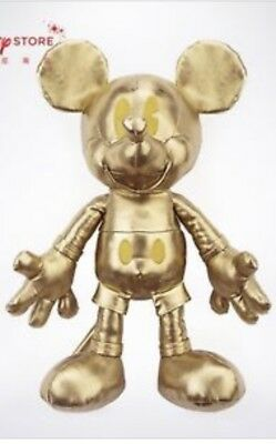Disney Mickey Memories Gold Plush 90 Years Of Magic Authentic And In Hand!