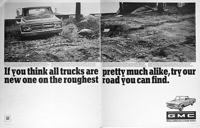 1967 GMC PICKUP TRUCK Vintage Advertisement ~ Find Some Potholes
