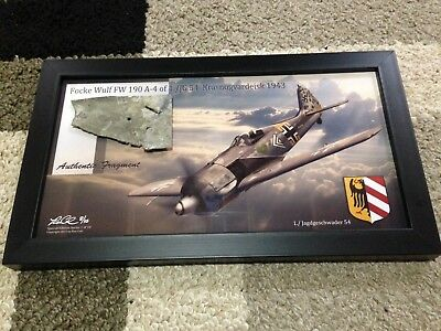 WWII German Aircraft Relic Art Print w/Frame Limited Ed. 8/10 Ron Cole Artist