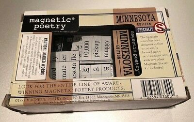 Magnetic Poetry: Speciality Series (Minnesota): Limited Edition. Fun Activity!