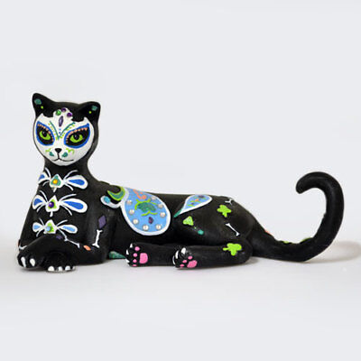 TAILS OF THE CURIOSITY Sugar Skull Cat Figurine by Blake Jensen NEW