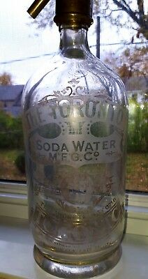 Rare 1920s The Toronto Soda Water M'F'G. Co. Syphon and Original Spout Bottle