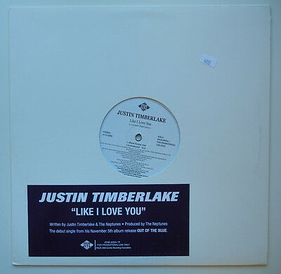 "12"" Us**justin Timberlake - Like I Love You (Jive '02 / Promo)***15824"