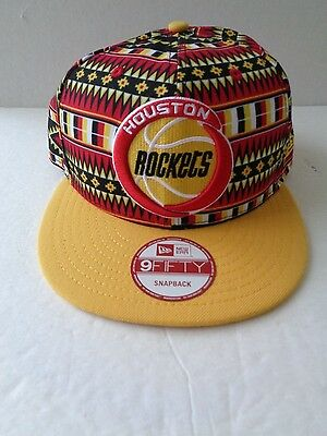timeless design c8131 390dd Houston Rockets Nba Tri Print New Era 9Fifty Snapback Cap Hat New