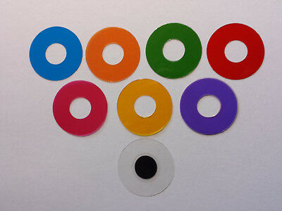Microscope 32mm Set of 5 Annuli and Darkfield Center Stop - You Pick the Colors!