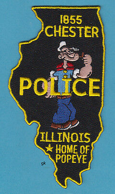 Chester Illinois Police Shoulder  Patch. Home Of Popeye.