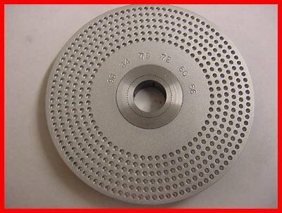 "Index Plate 1/8"" x 3.6"" Dia. Sherline Ref - Watchmaker - Clockmaker lathe - 96"